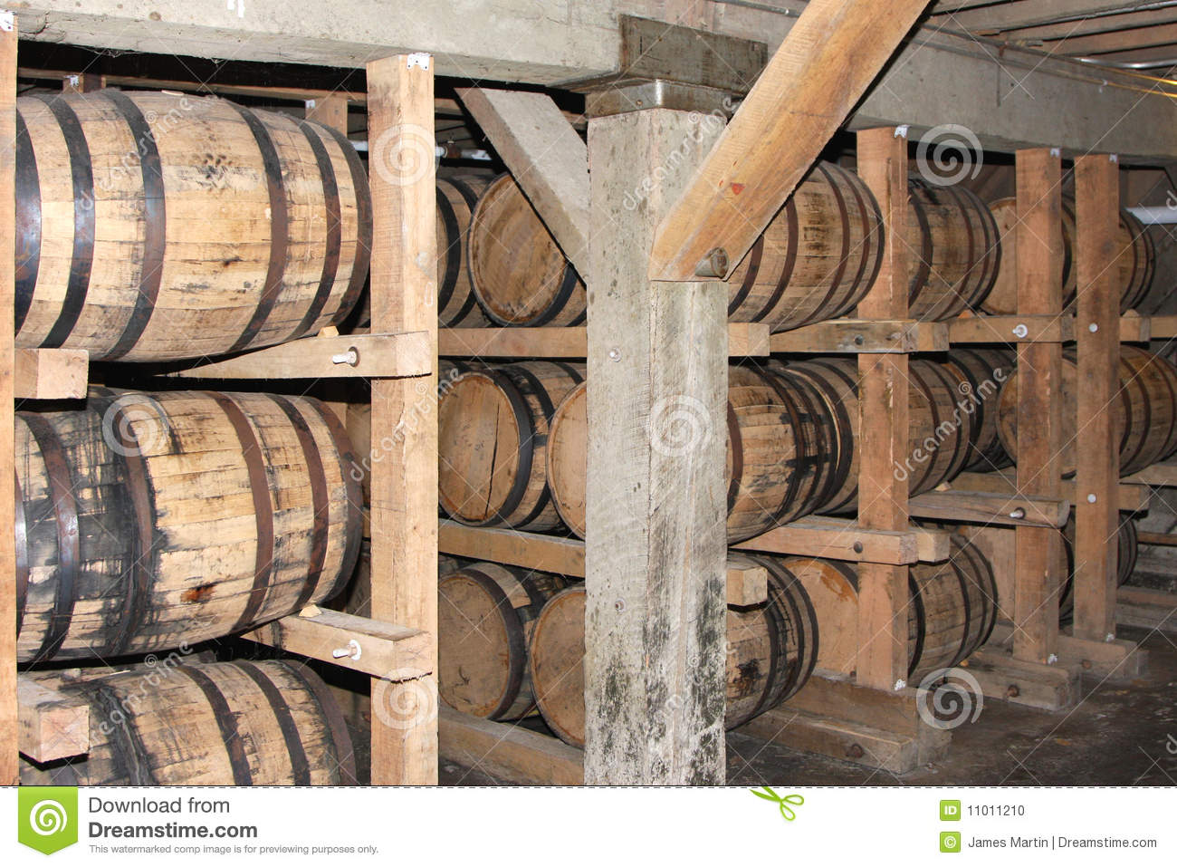 Whiskey or wine aging in barrels stock photo image of for Barrel cabin plans