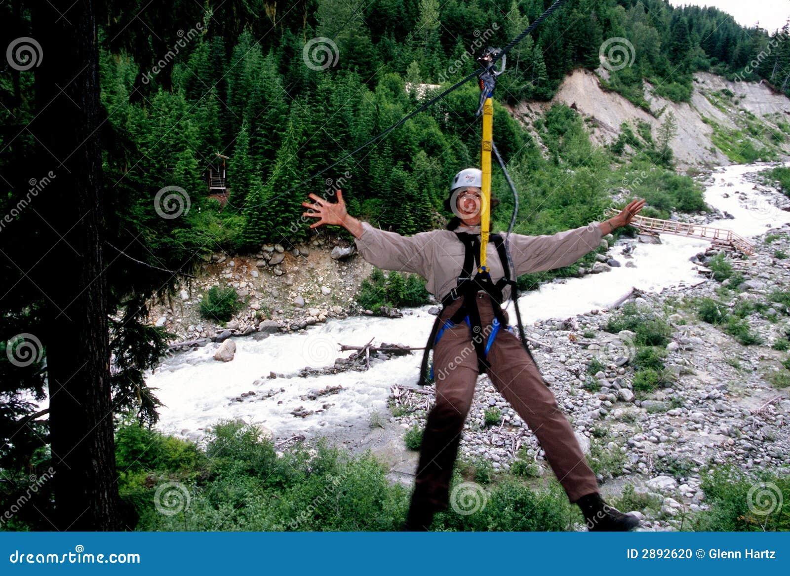 Whistler ziplining.