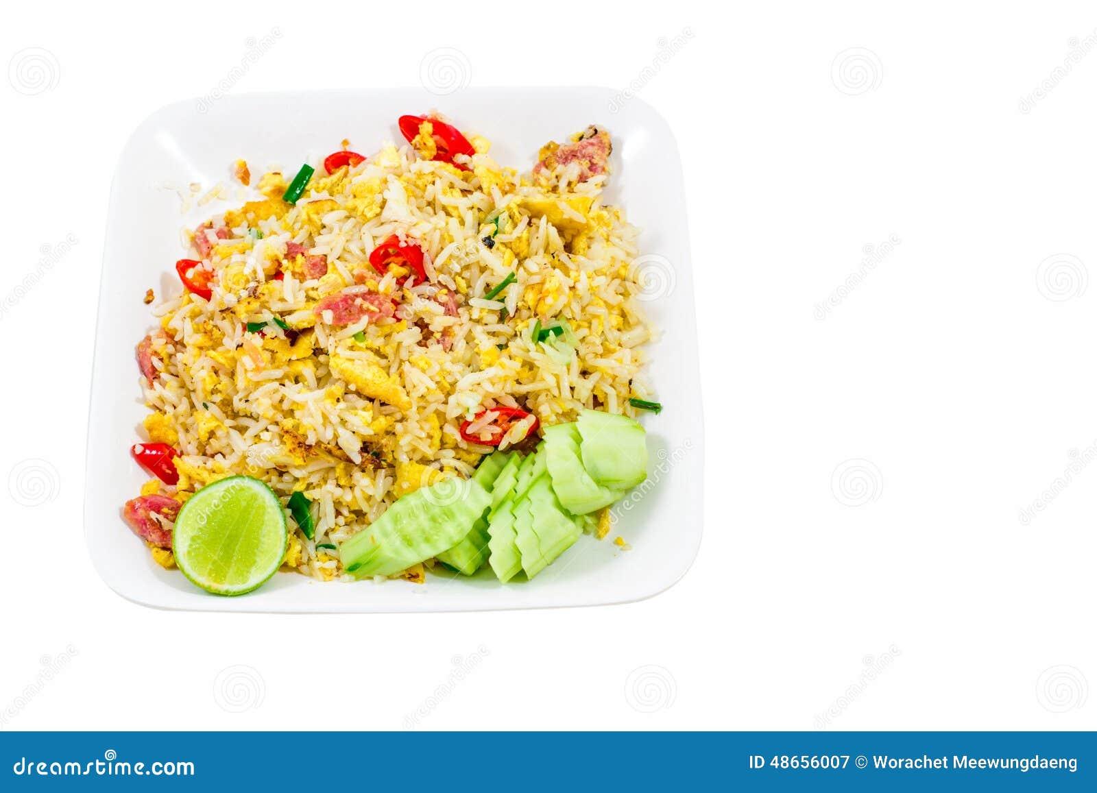 Whit Таиланд жареных рисов