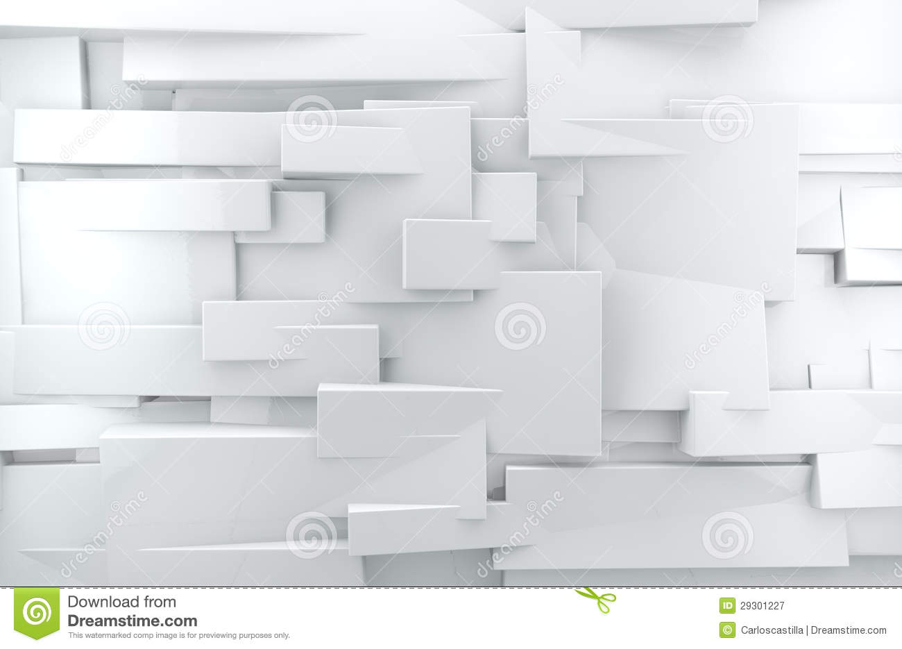 White 3d Abstract Background Stock Illustration Image