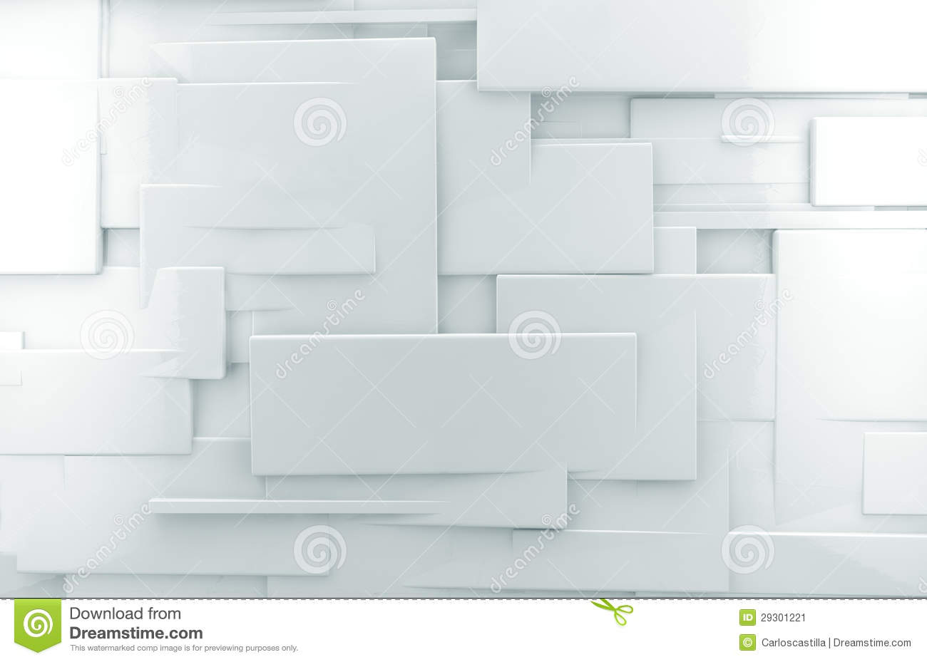 White 3d Abstract Wall Background Stock Illustration