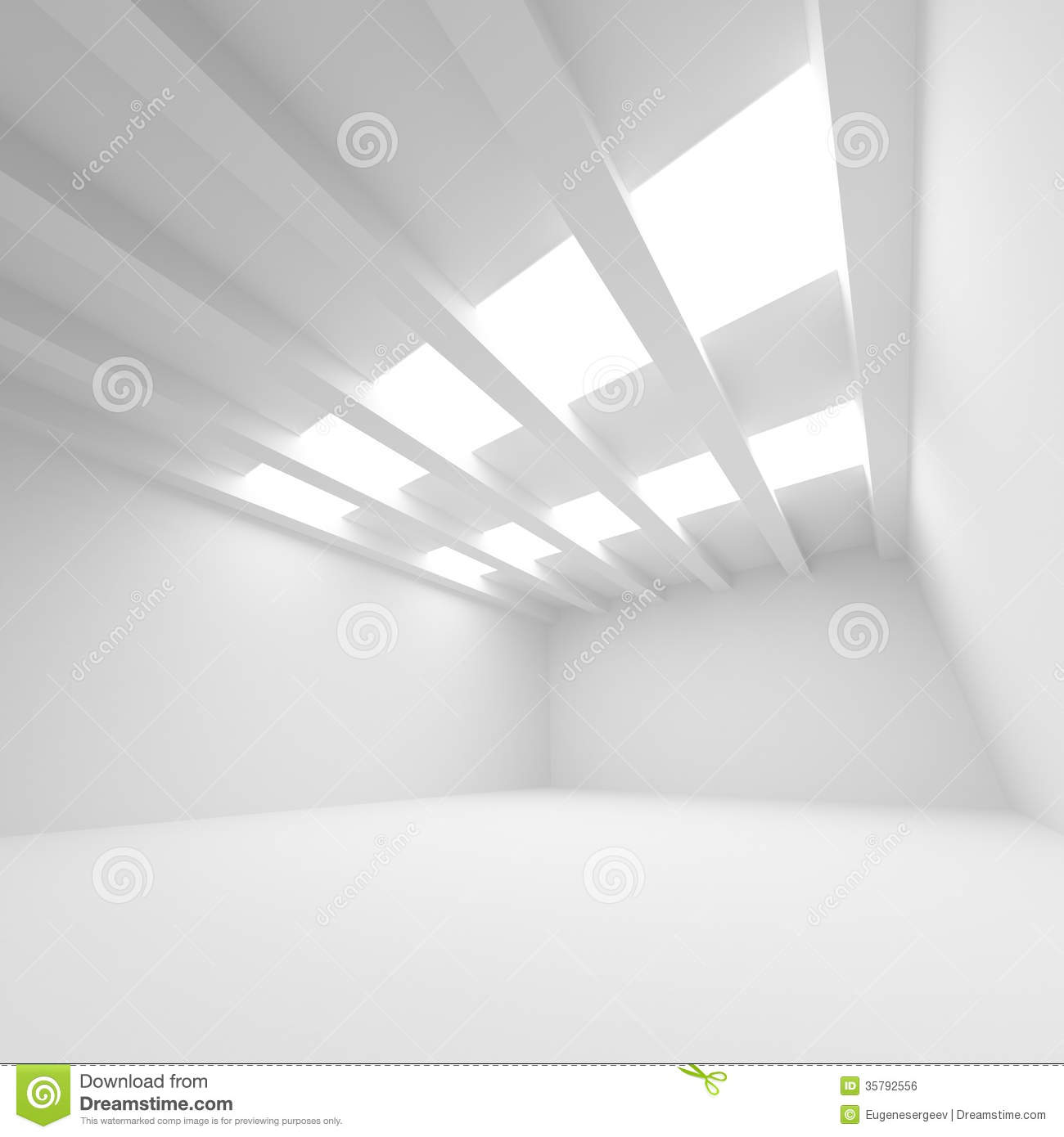 White Abstract Architecture Background Stock Illustration
