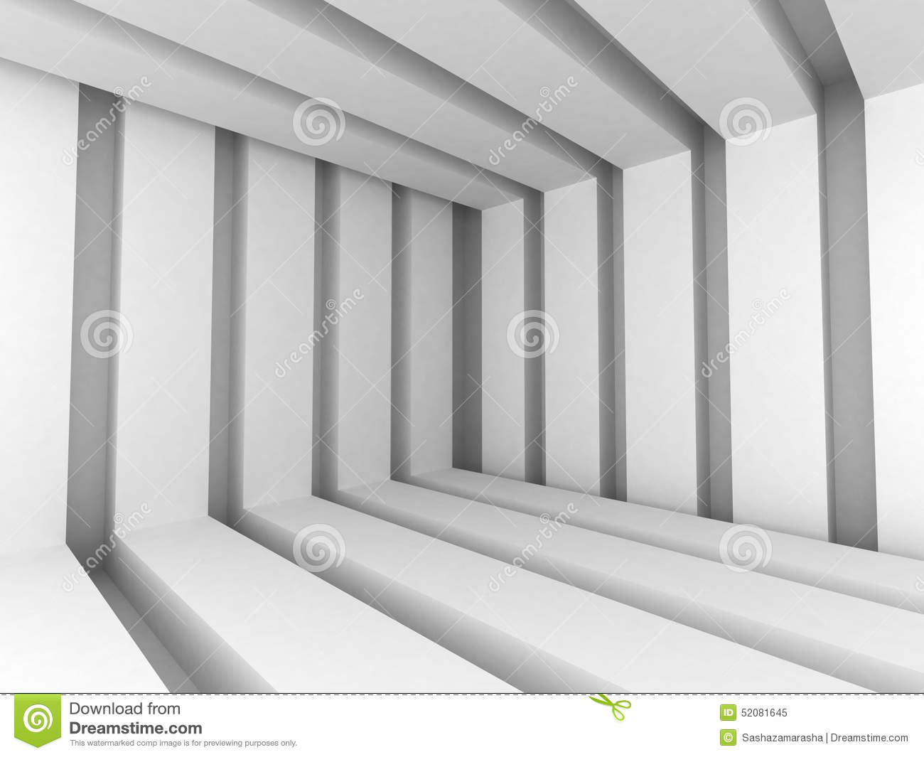 white abstract modern architecture interior background stock