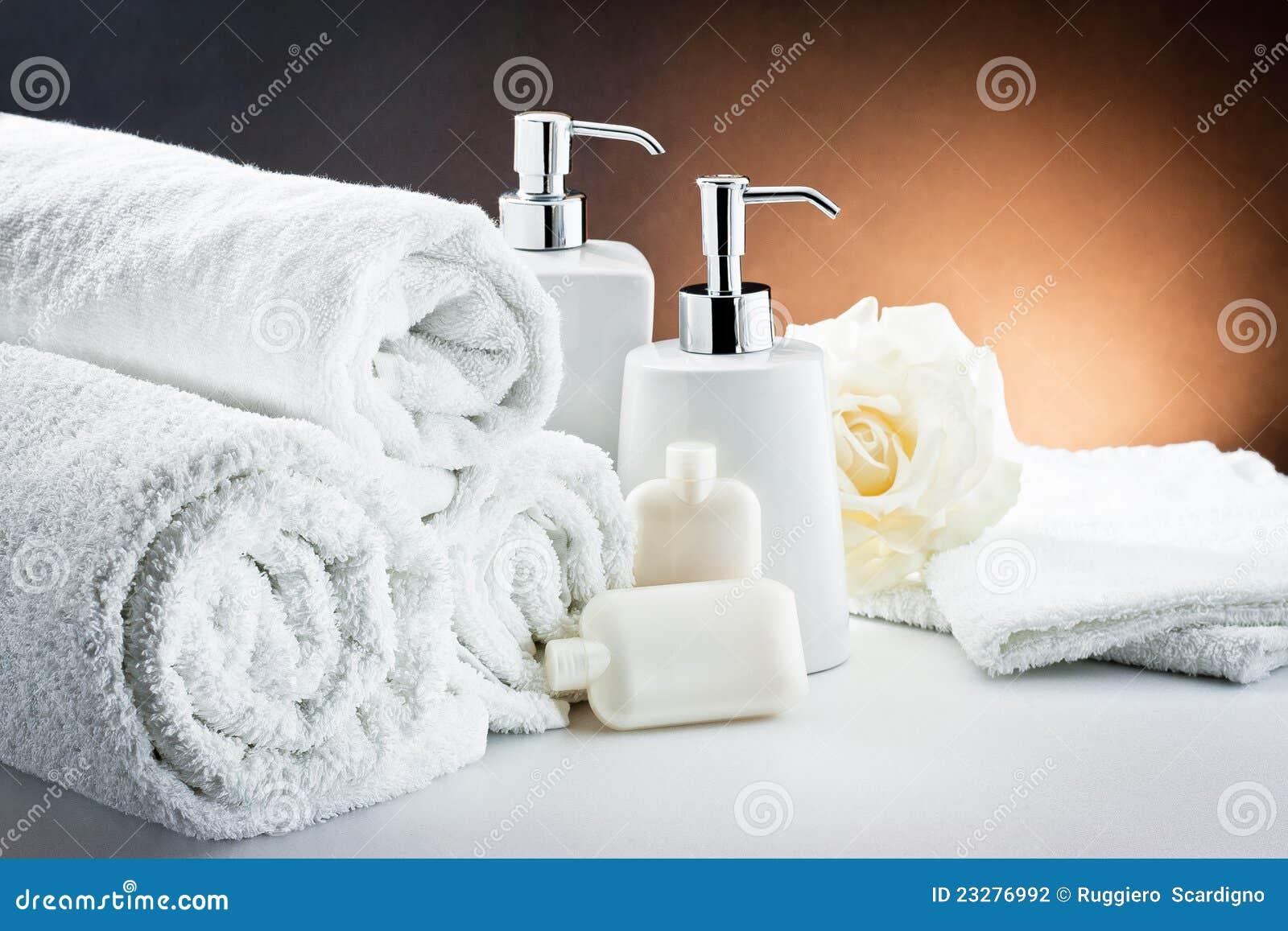 White Accessories Bathroom Hygiene Stock Photo - Image of harmony ...