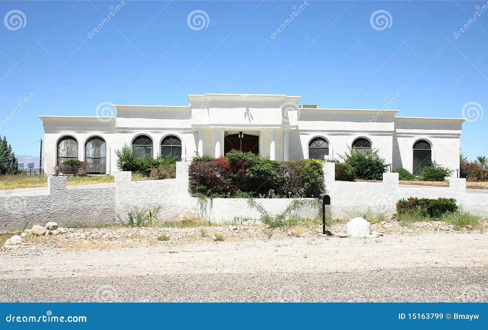 White Adobe House Stock Image Image Of Dwelling House