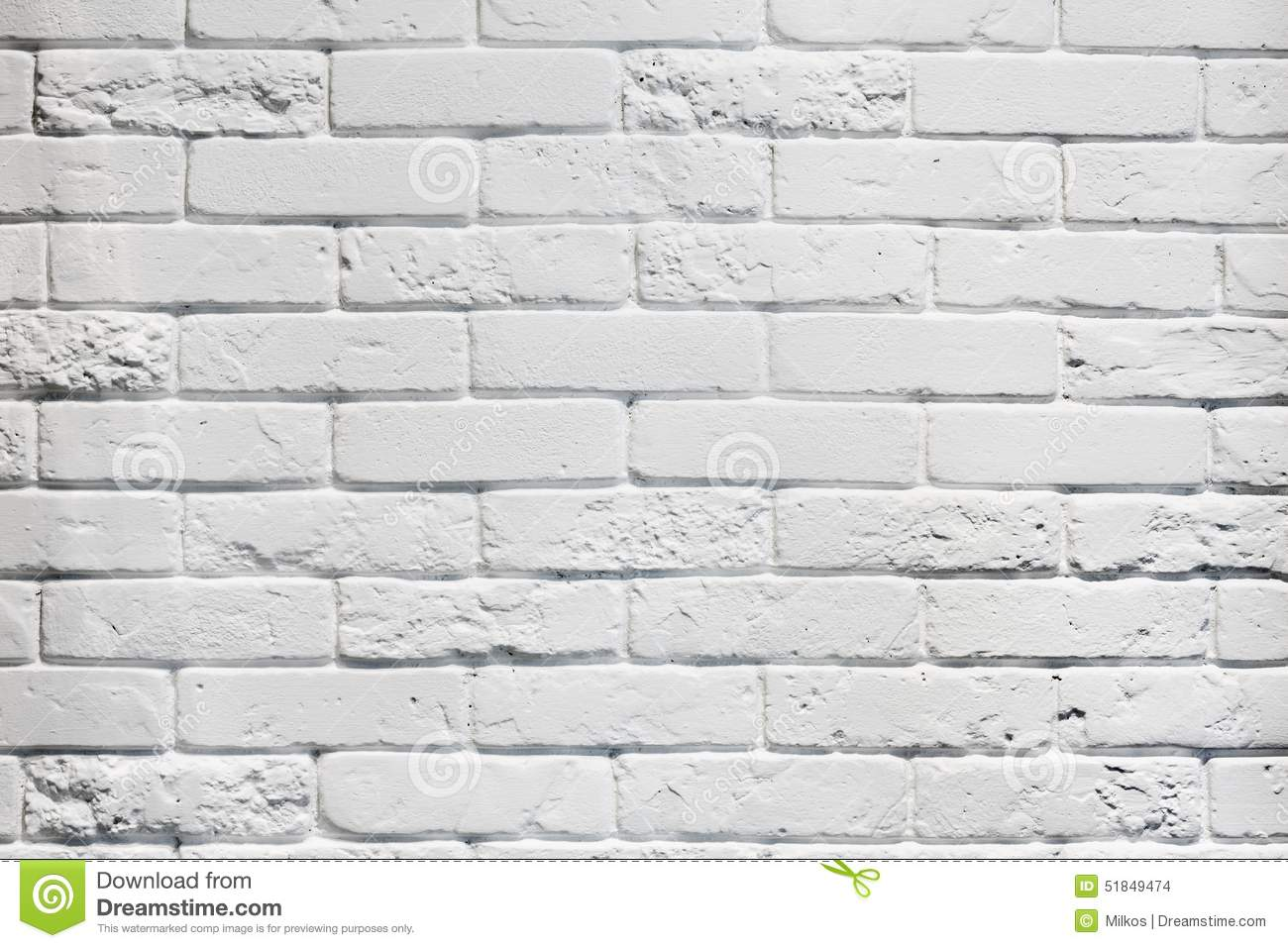 White painted aged outside brick wall texture stock photo - Pared ladrillo blanco ...