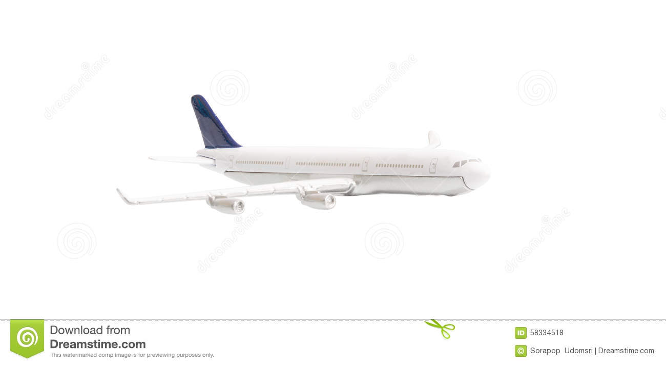 White Airplane Isolated Stock Illustration - Image: 58334518