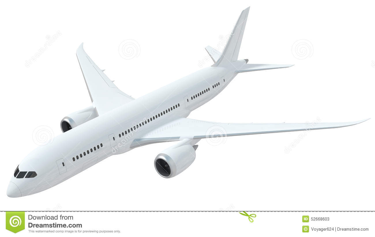 White Airplane Isolated On White Background Stock ...