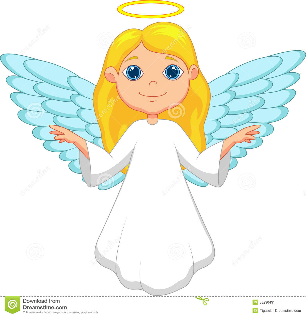 White angel cartoon stock image image 33230431 for Angel clipart