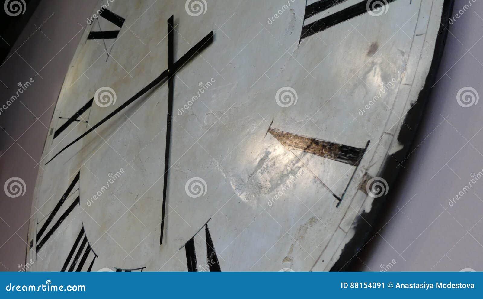 White antique clock face