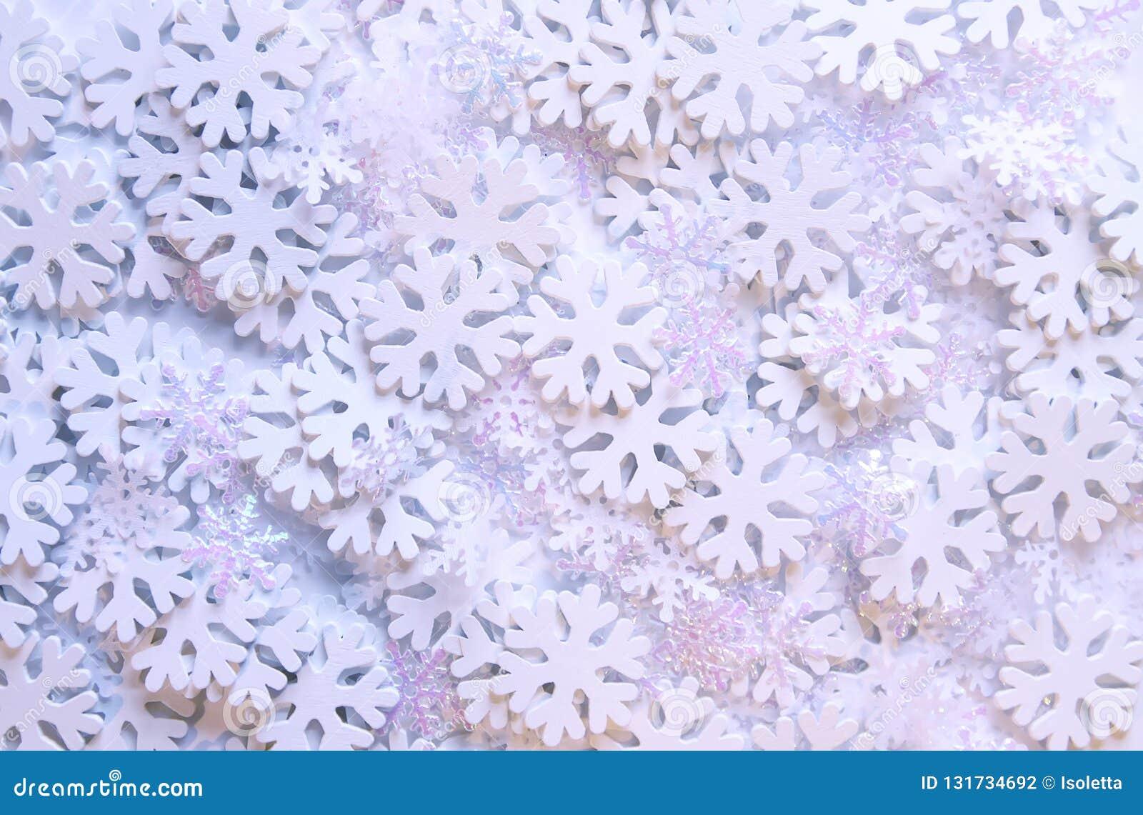 white snowflakes on soft background winter background decorative