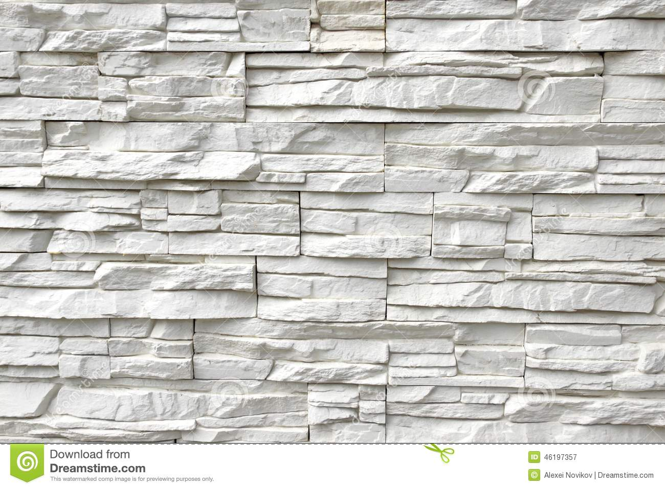 White artificial stone wall stock image image 46197357 for Texturas de paredes