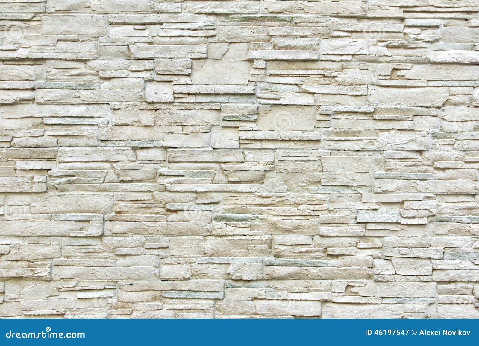 White artificial stone wall stock photo image 46197547 - Revestimiento piedra artificial ...