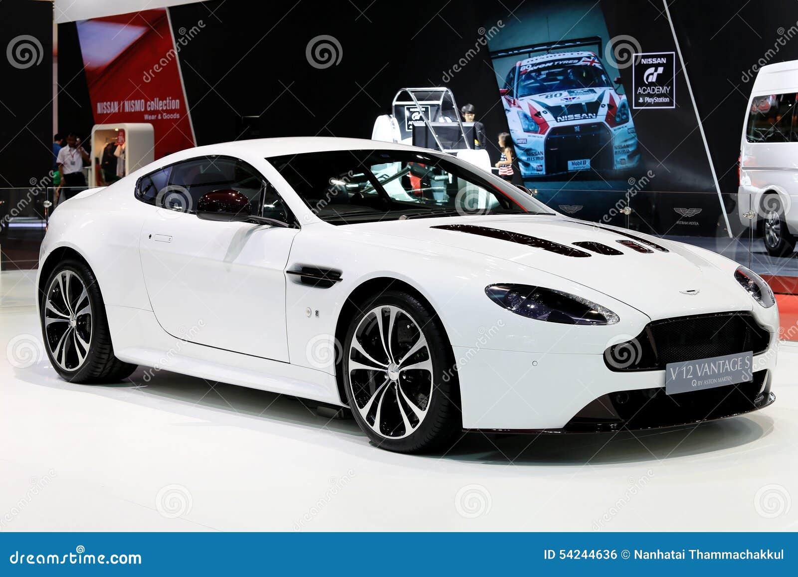 White Aston Martin Series V12 Vantage S Editorial Photo