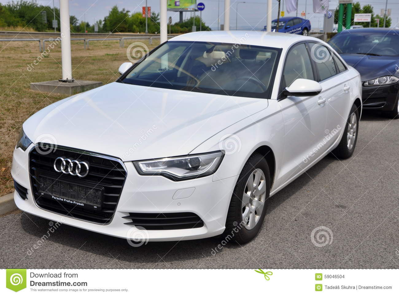 White Audi A6 Editorial Stock Image Image 59046504