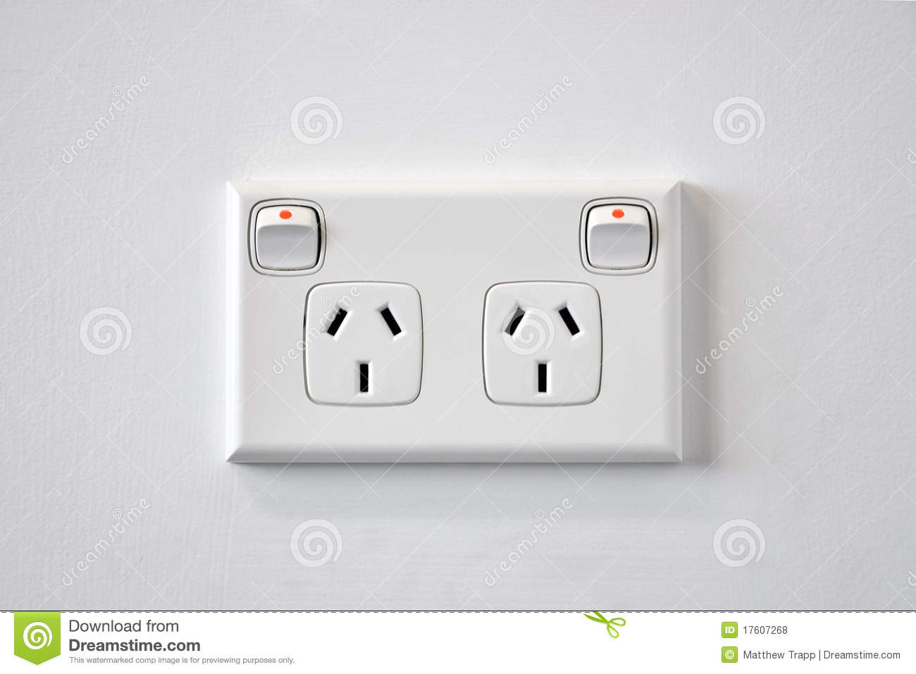 A White Australian Wall Power Outlet. Stock Photo - Image of ...