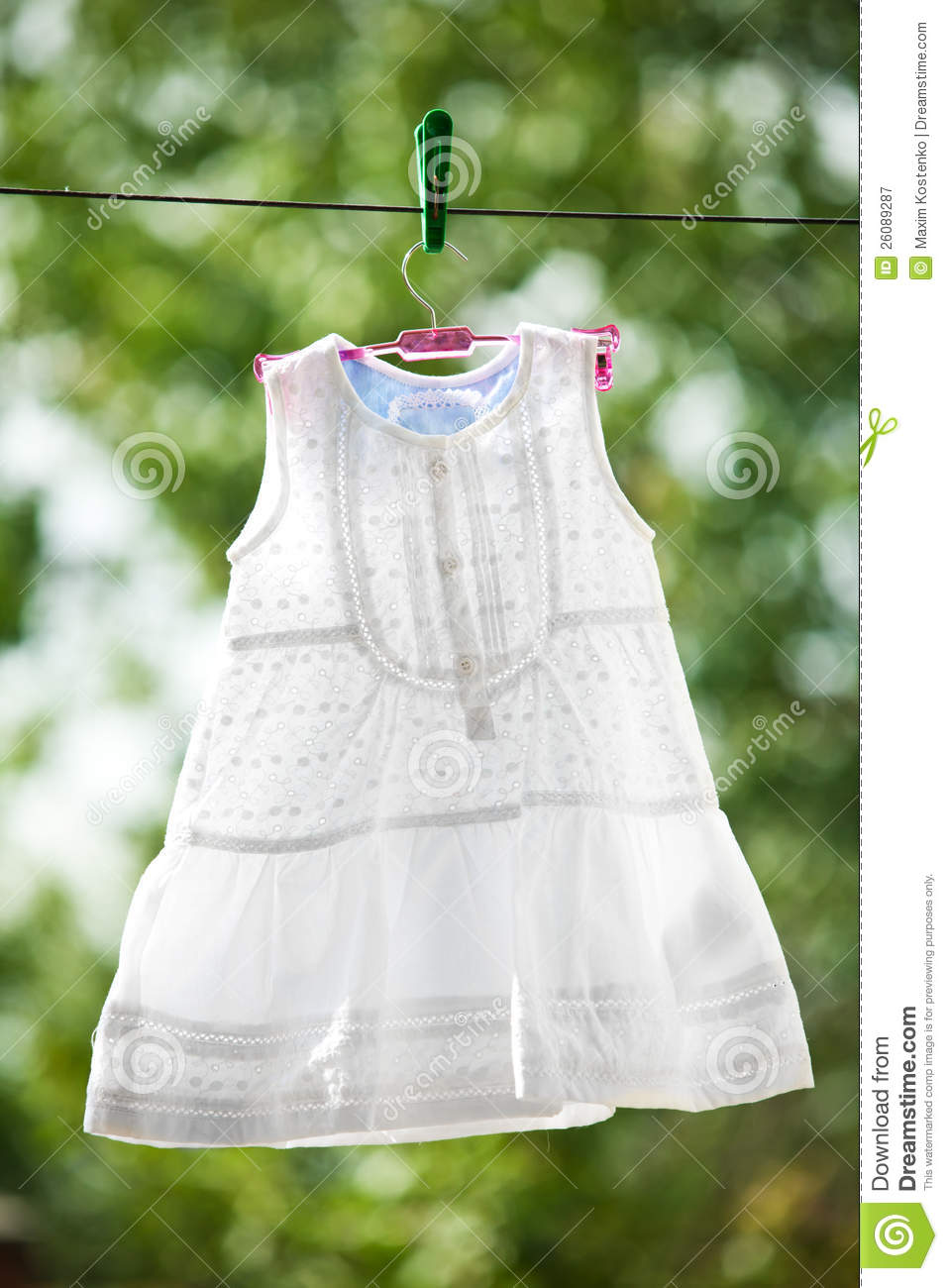 White Baby Dress Outdoor Royalty Free Stock Photography - Image ...
