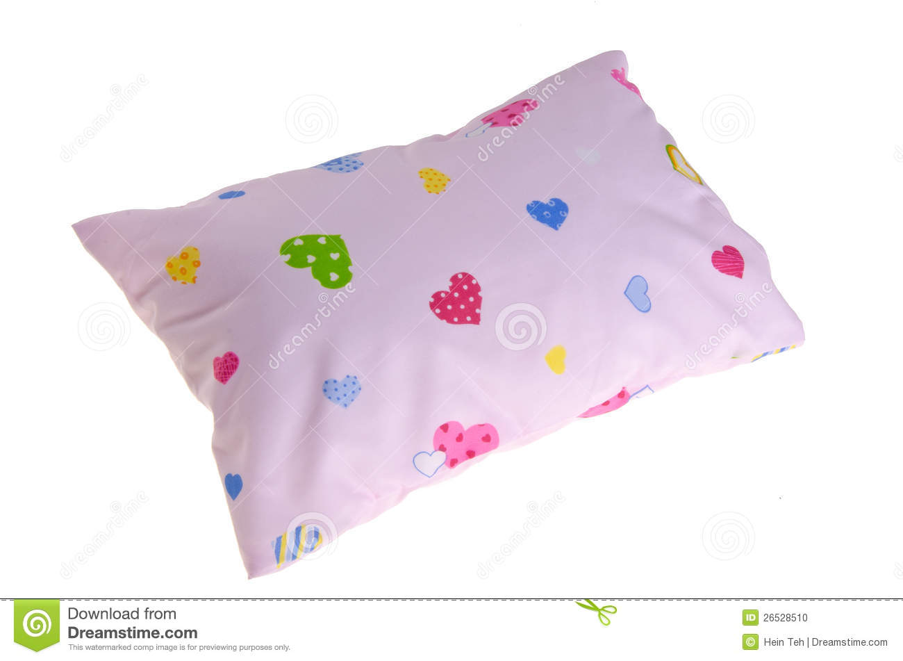 White Baby Pillow Small Pillow For Baby Stock Photo Image Of