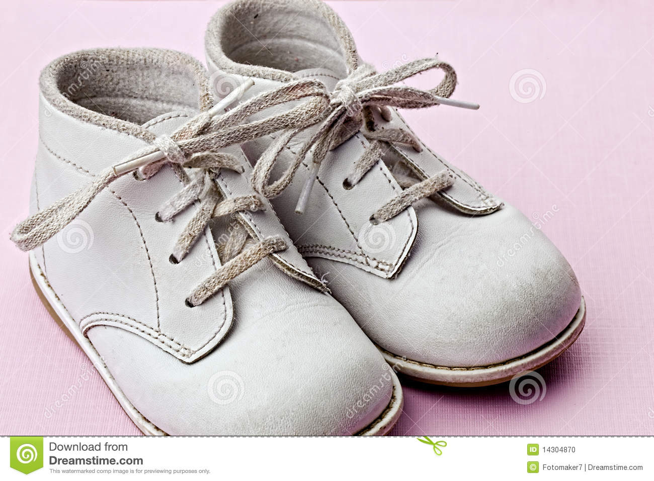 White Baby Shoes Stock Photo - Image: 14304870