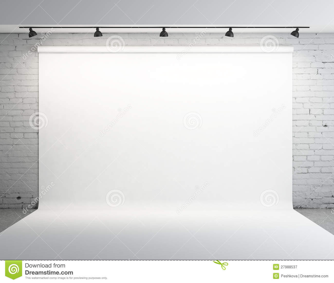 Photography Studio Floor Plans White Backdrop Stock Image Image Of House Nobody Blank