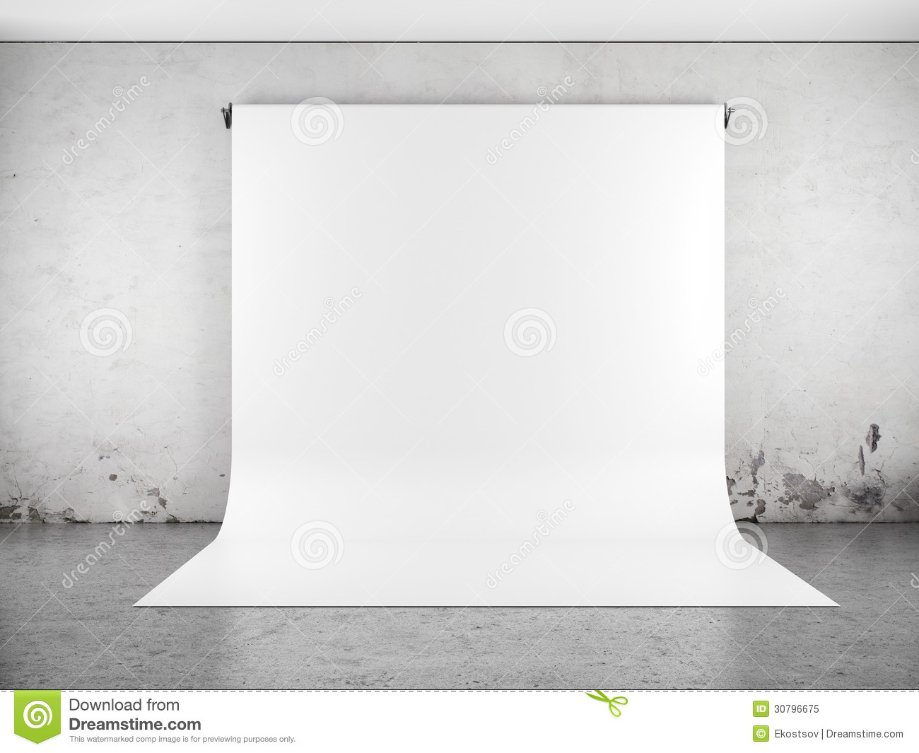 White Backdrop In Room Stock Illustration Image Of Banner
