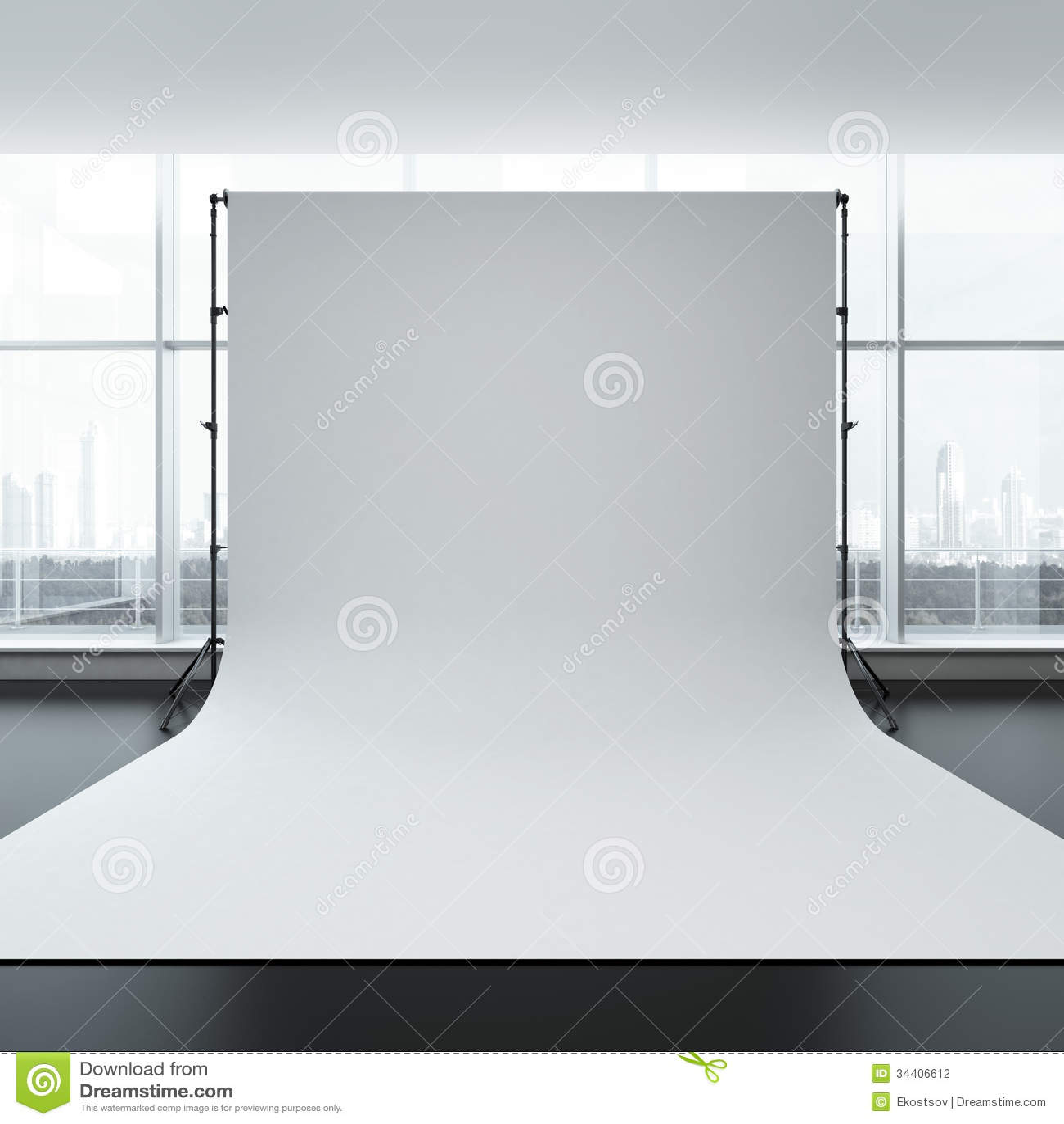white backdrop in room stock illustration illustration of l