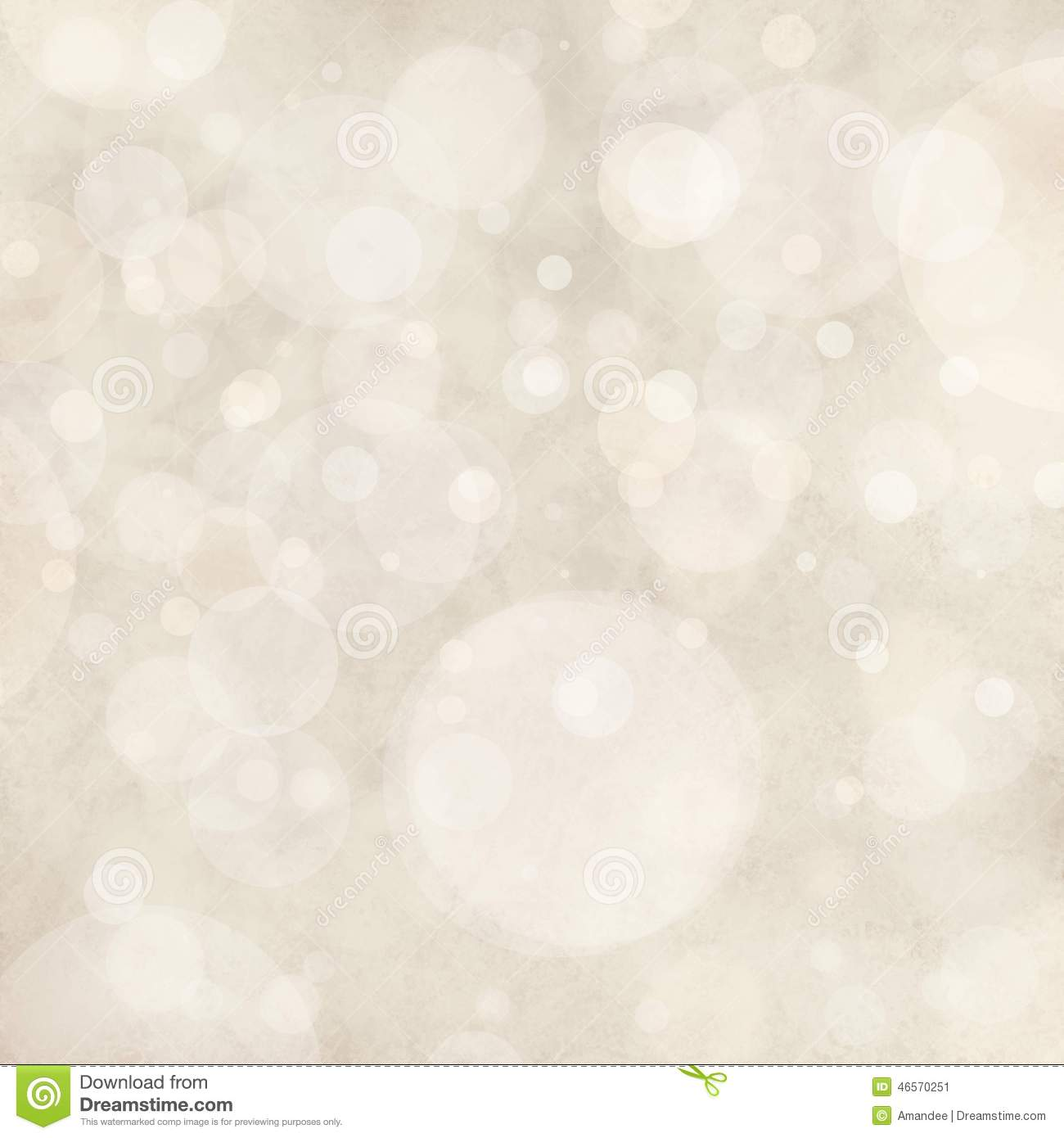 White background lights, bokeh circle shapes layered like falling snow in sky, bubble background design