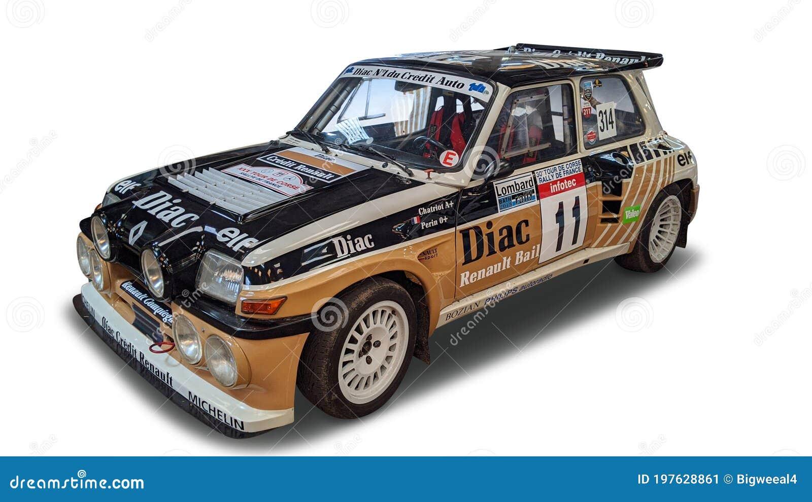 White Background Renault 5 Gt Turbo 2 Editorial Photo Image Of Rear Renailt 197628861