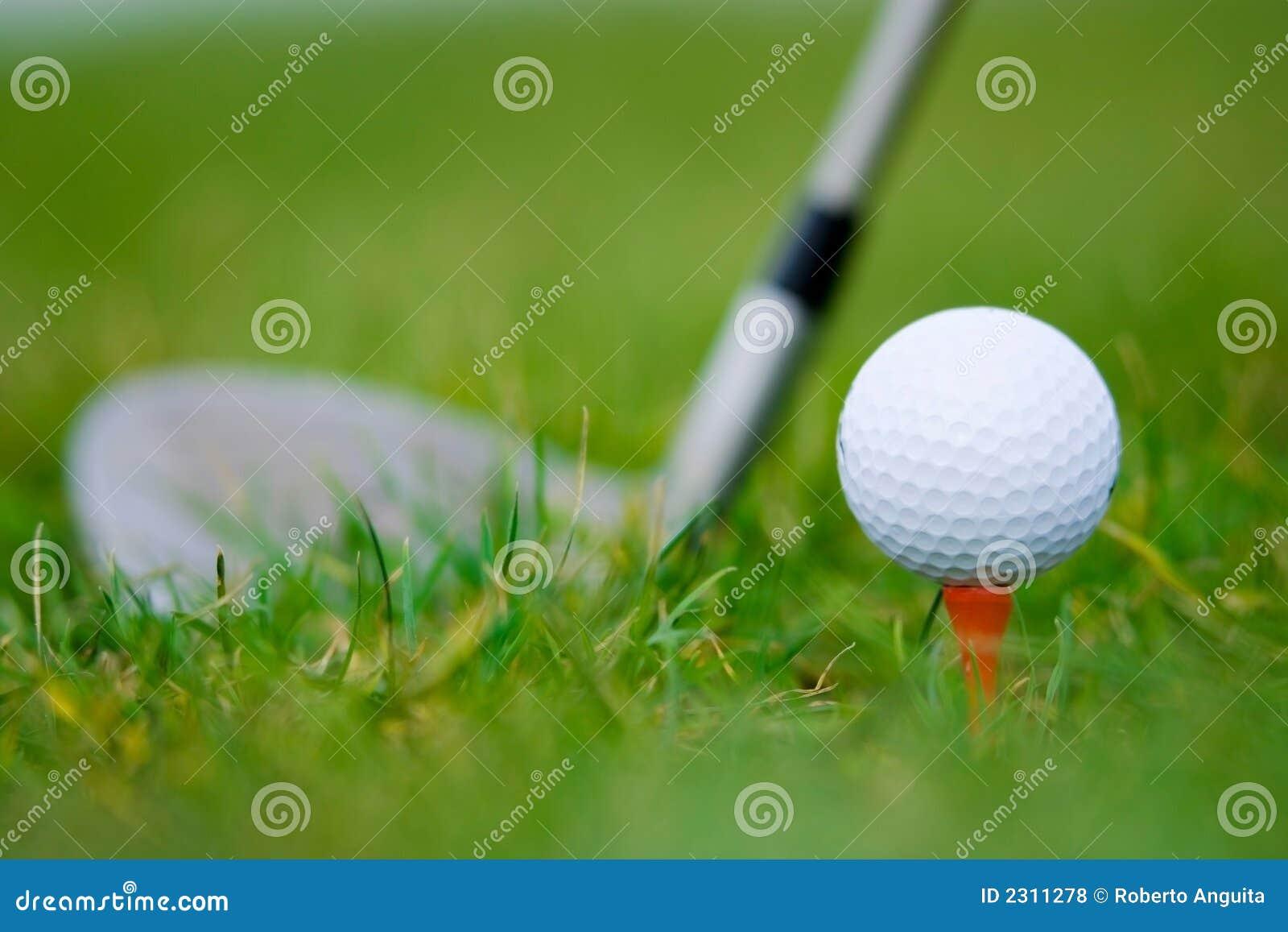 White ball golf