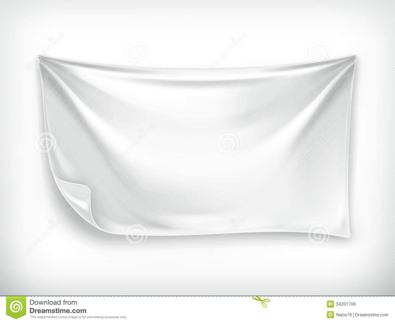 White Banner Stock Vector Illustration Of Advertising