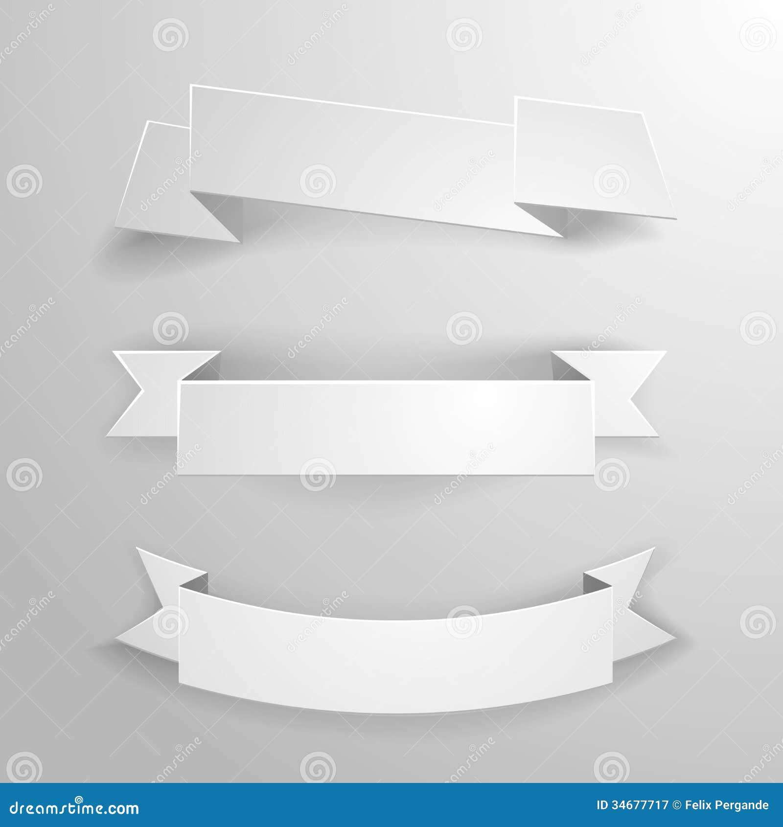 white banner ribbons stock vector  illustration of