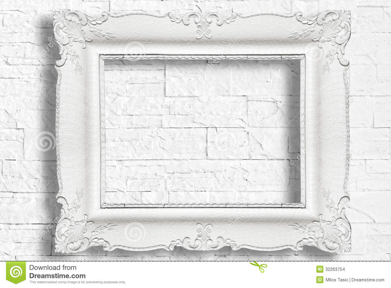 White Baroque Frame Stock Photo Image Of Decorative