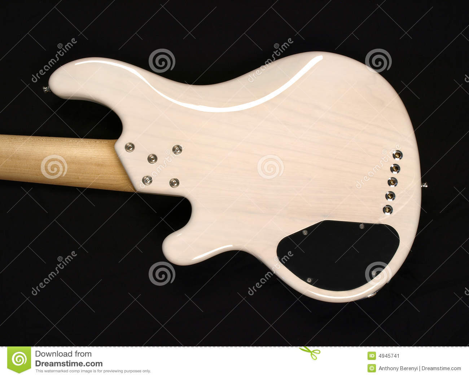 White Bass Guitar body back