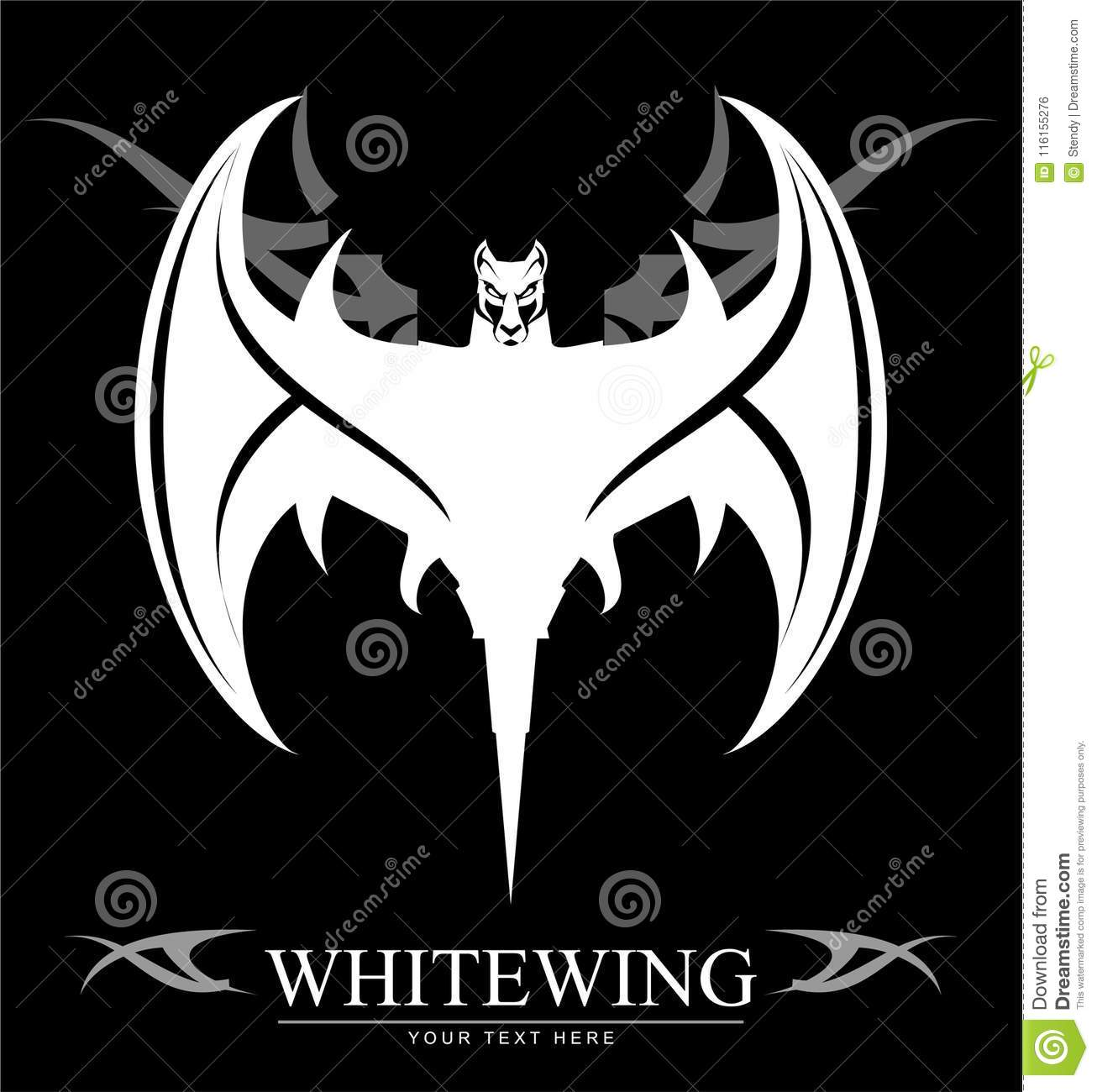 c8072a365 An illustration of a white bat with tribal design. More similar stock  illustrations