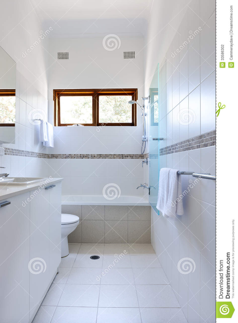 White Bathroom Tiles Stock Photography Image 33586302