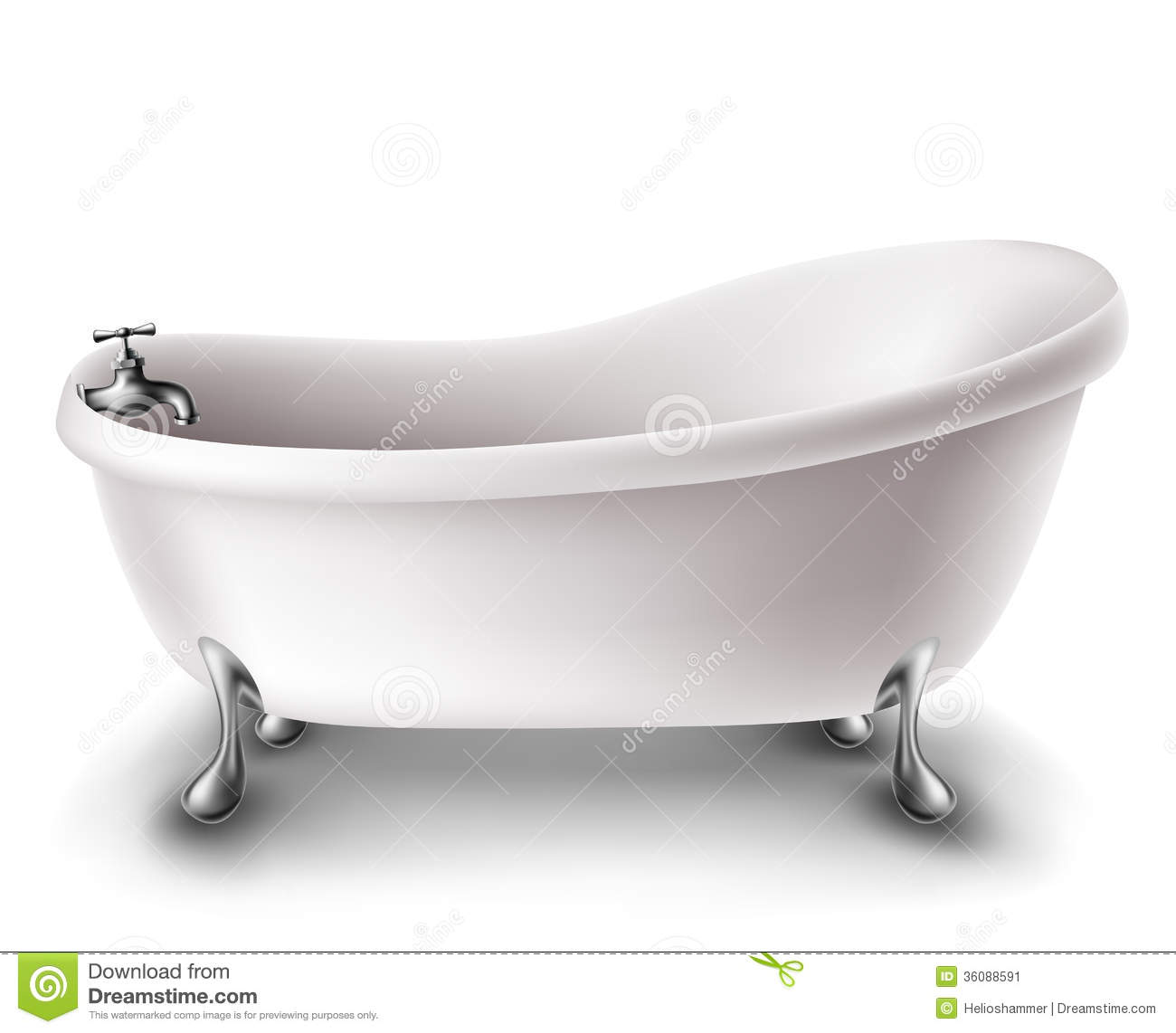 White Bathtub Stock Image Image 36088591