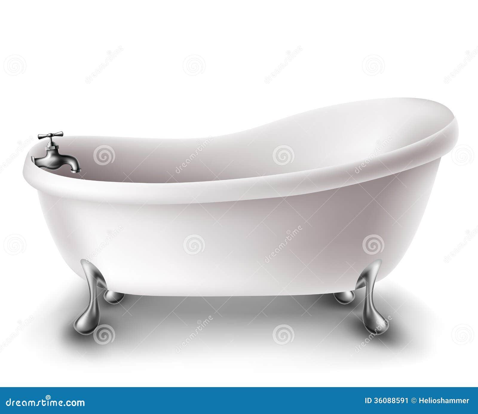 White bathtub stock vector. Illustration of bathtub, iron - 36088591
