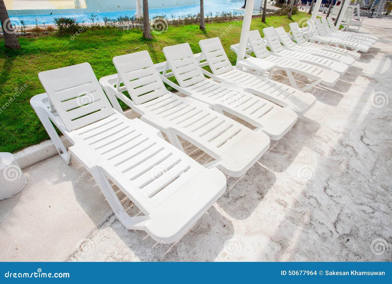 White Beach Chair Stock Image