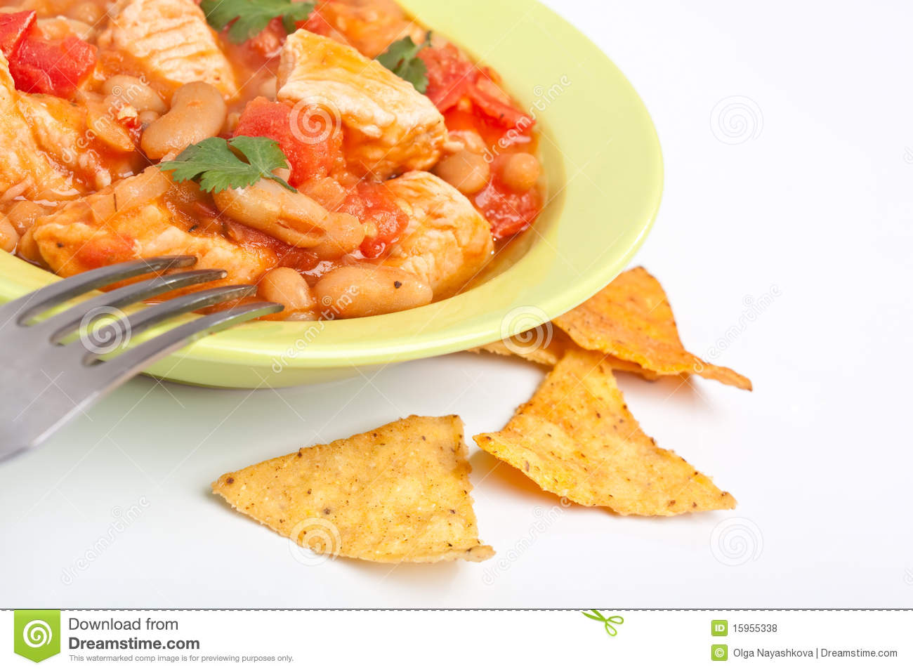 White Bean Turkey Chili Royalty Free Stock Photos - Image: 15955338