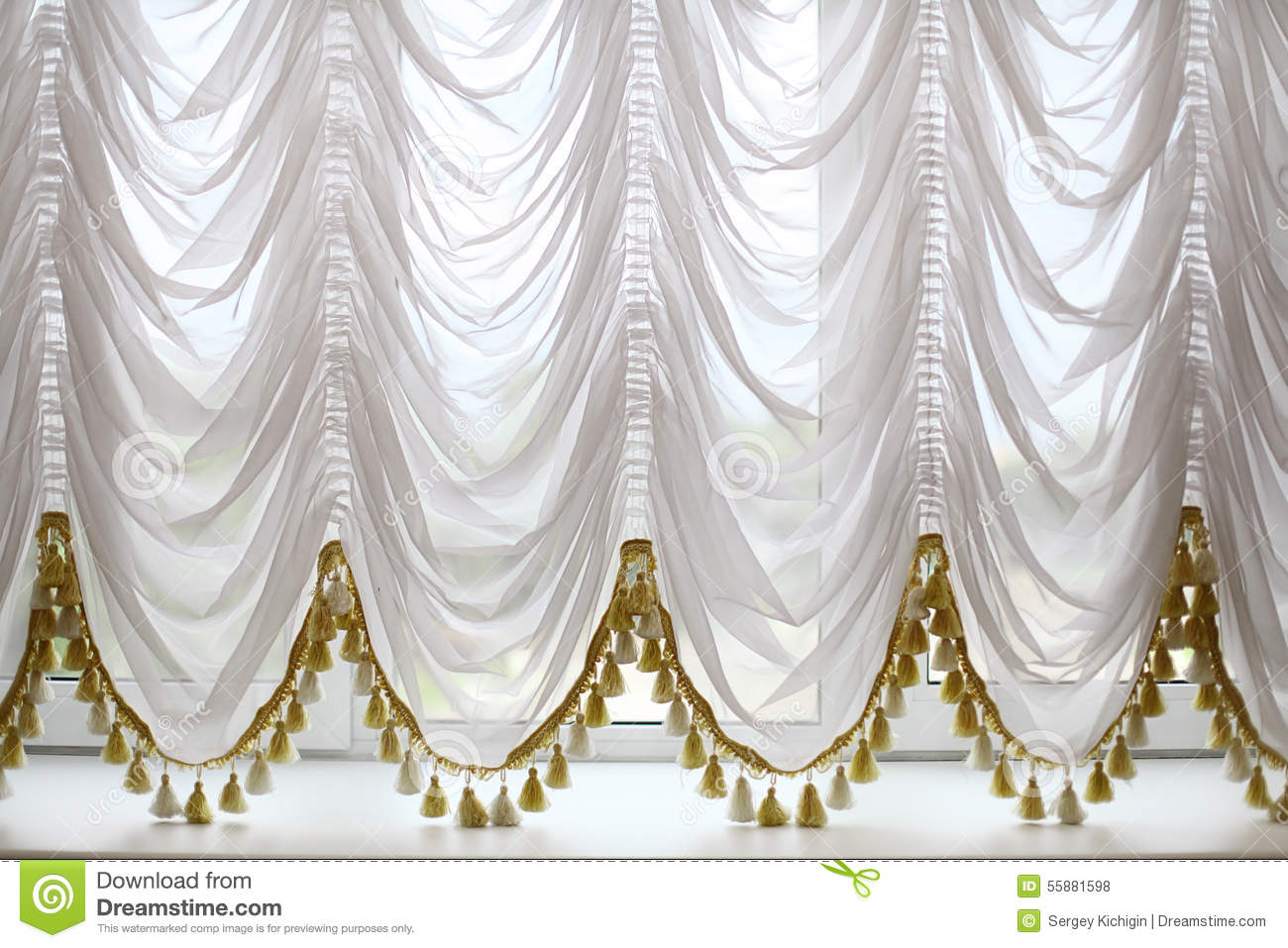 Royalty free or white curtain background drapes royalty free stock - Royalty Free Stock Photo Background Beautiful Curtains White