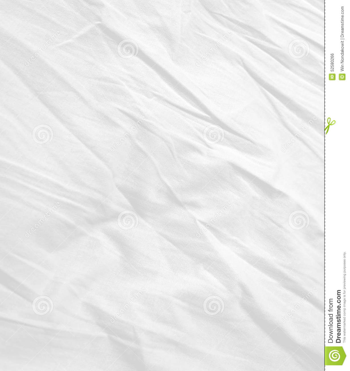 Soft white bed sheets background