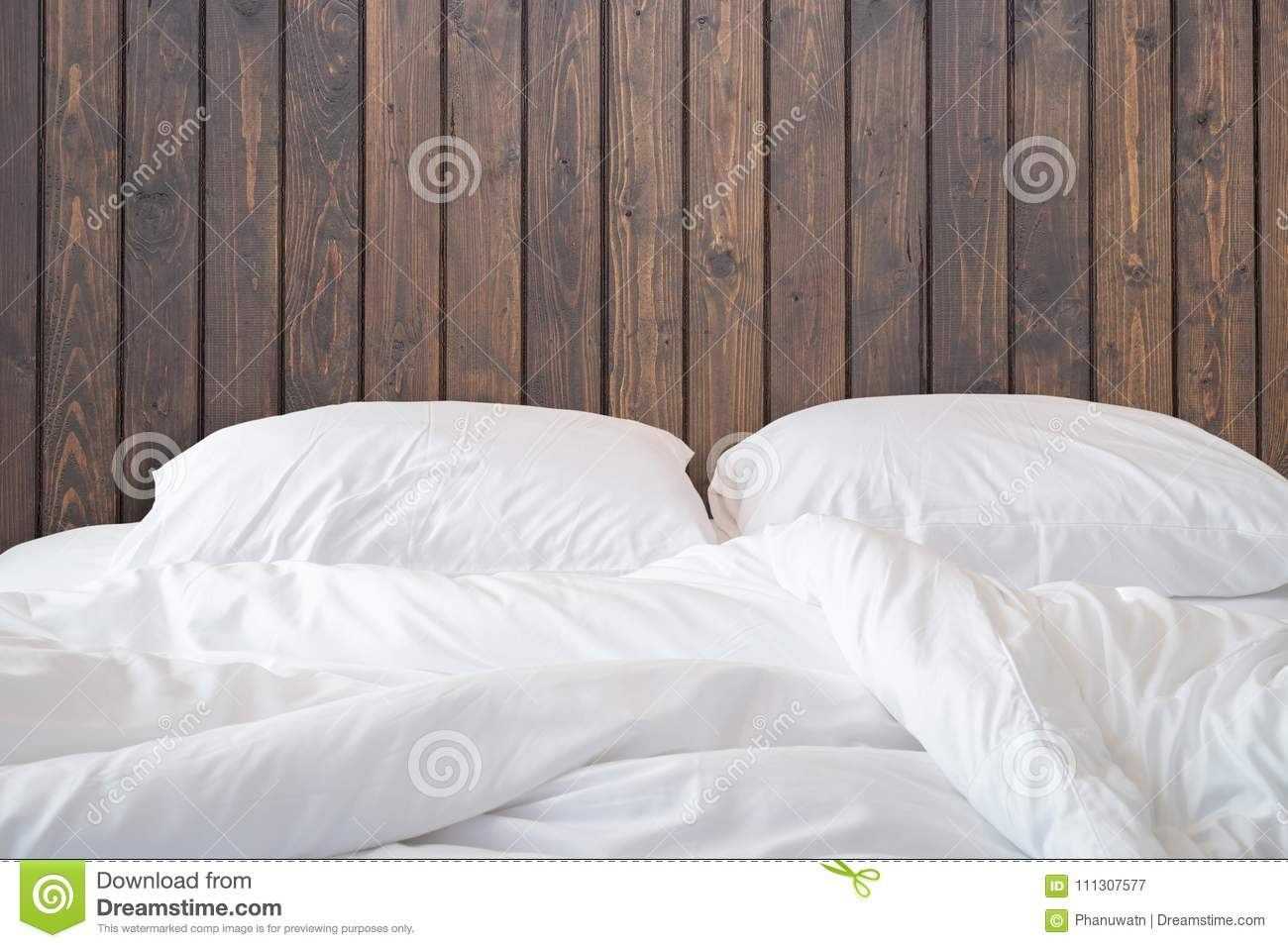 White bed sheets background Cotton Close Up White Bedding Sheets And Pillow On Wooden Wall Room Background Messy Bed Concept Dreamstimecom White Bedding Sheets And Pillow On Wooden Wall Room Background