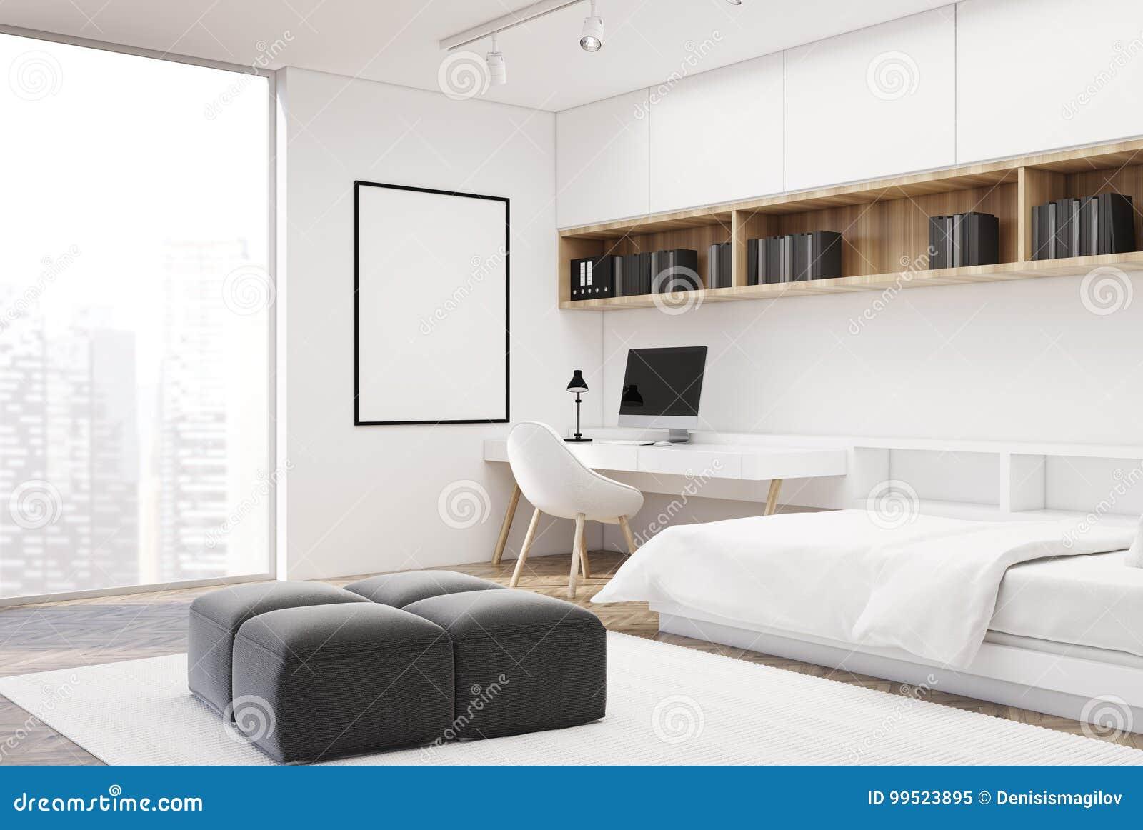 download design home office corner. White Bedroom And Home Office, Single, Corner Download Design Office C