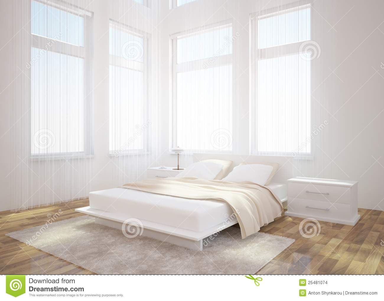 White bedroom interior design stock images image 25481074 - Bedrooms images ...