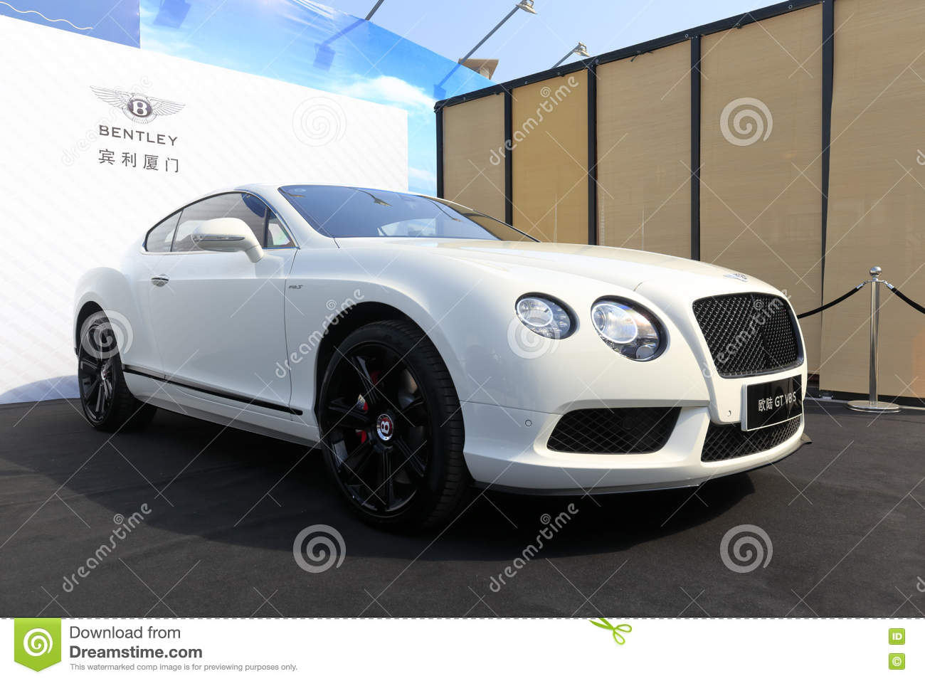 White Bentley Limousine Editorial Stock Image Image Of Continental 74913734