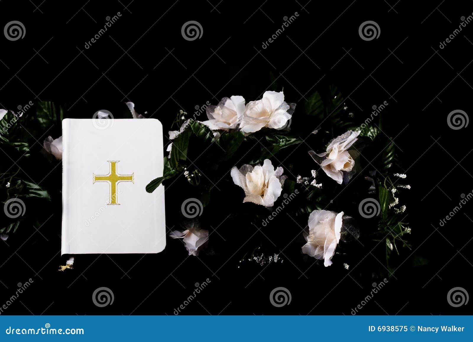 White Bible on Black