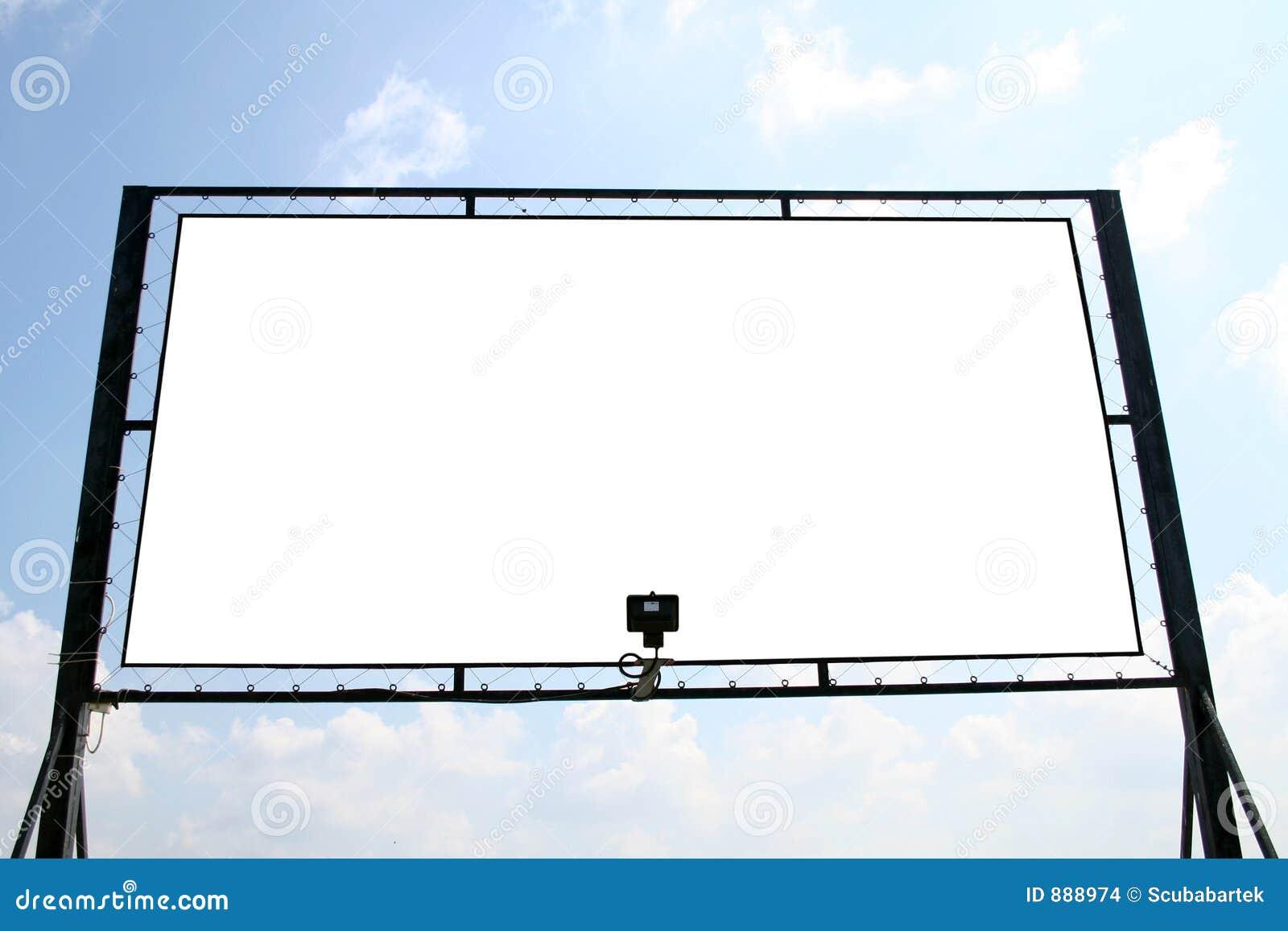 White billboardu