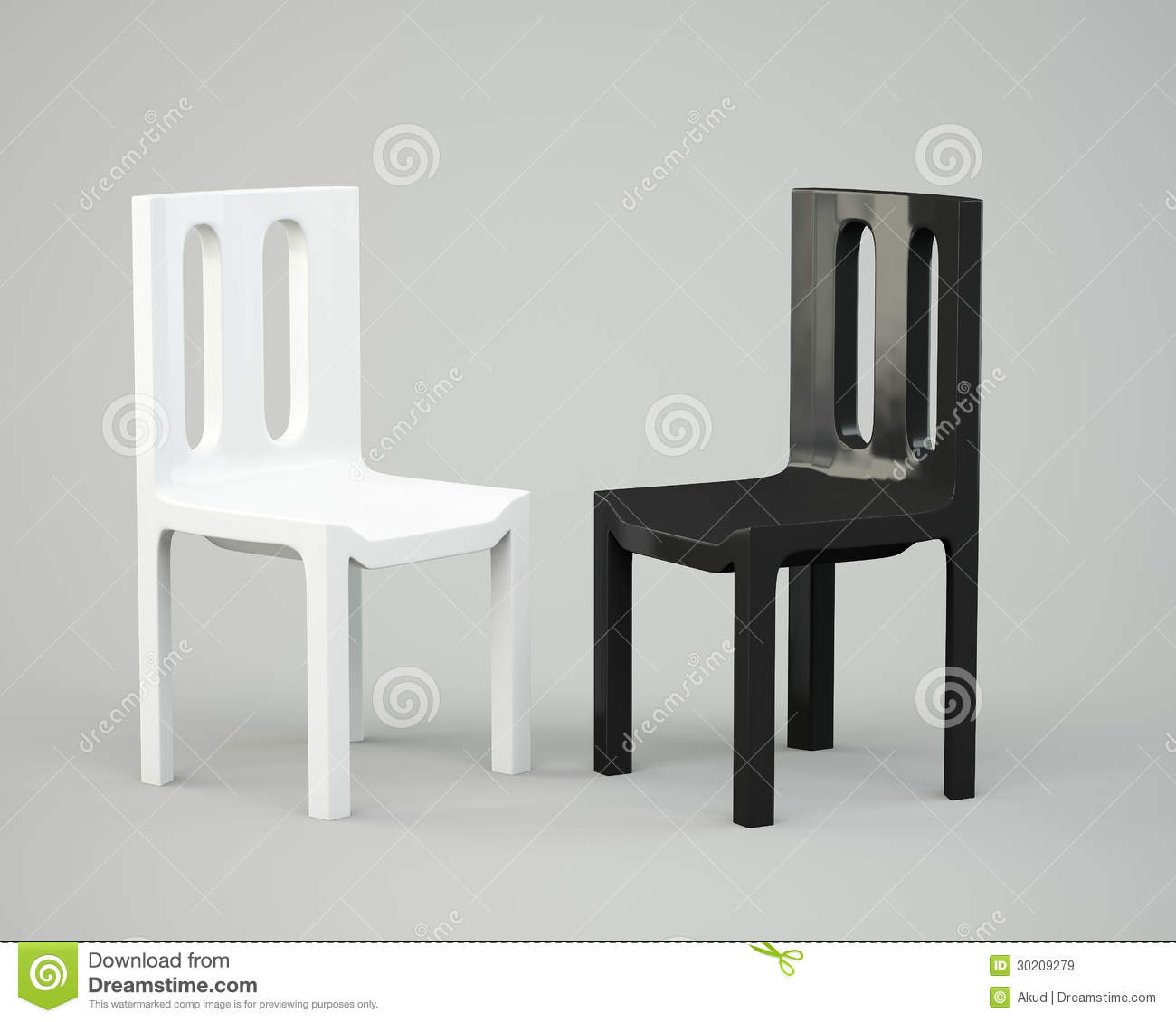 White and black chair