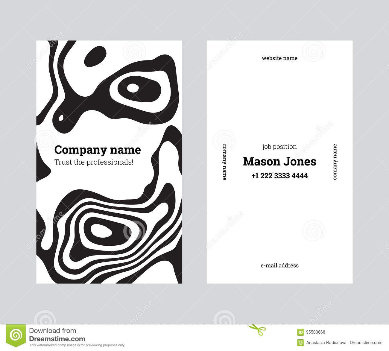 White And Black Creative Business Card Template Stock Vector ...