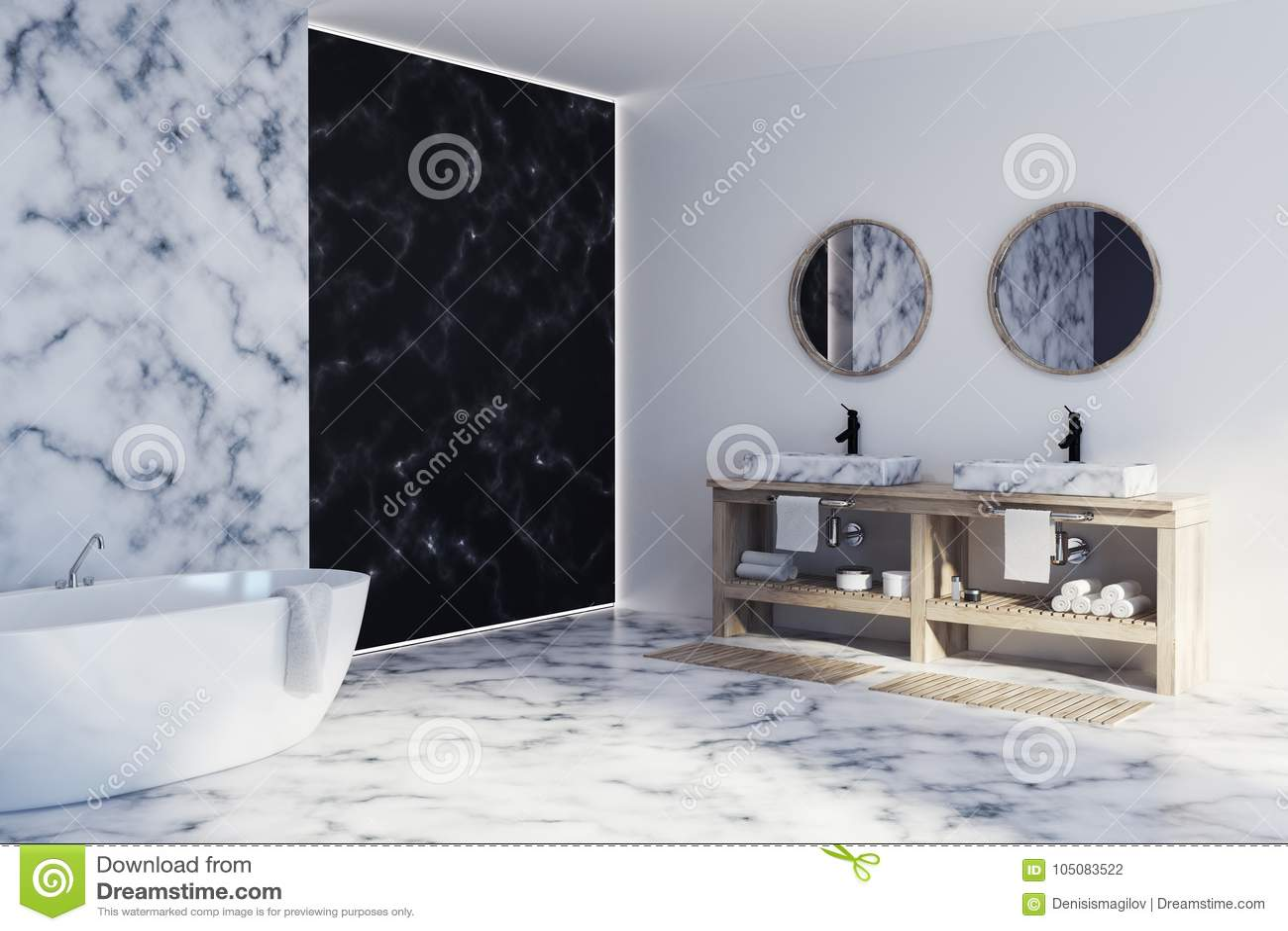 interesting black white marble bathroom floor   White And Black Marble Bathroom Side Stock Illustration ...